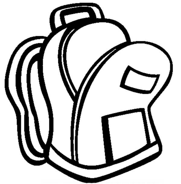Back pack opened coloring page coloring pages for Backpack coloring page