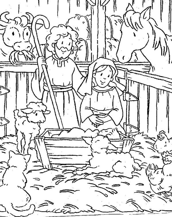 Jesus Born In Bethlahem - Free Coloring Pages