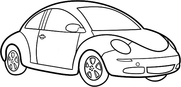 colouring pages of easy cars draw beetle car coloring pages how to