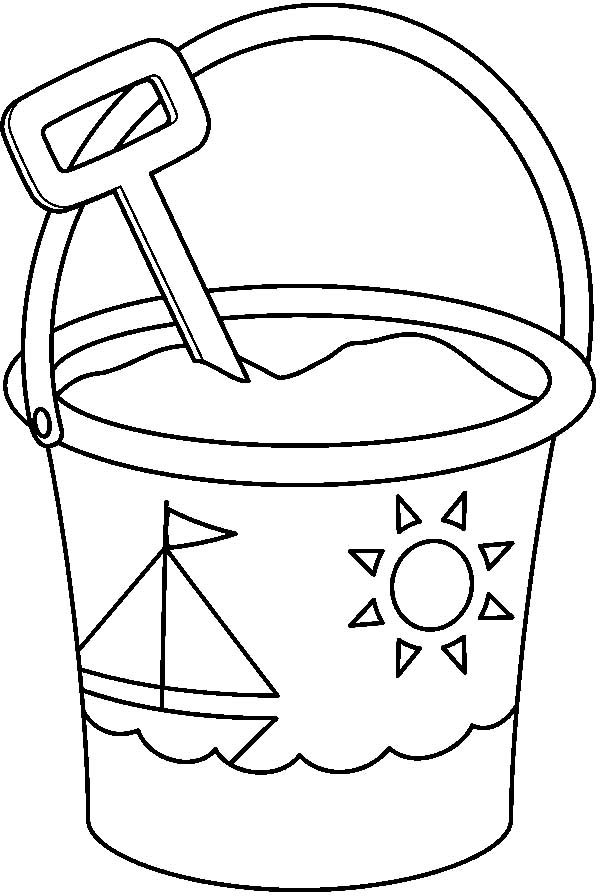 Coloring Pages Bucket Shovel