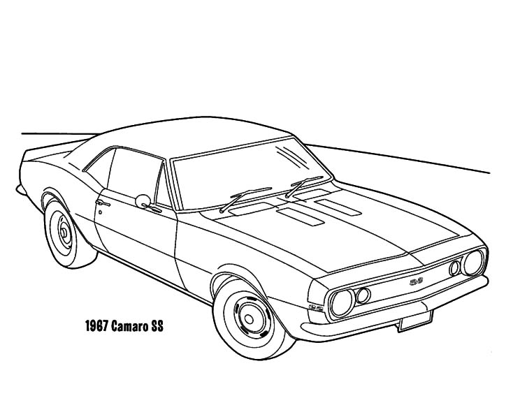 printable camaro coloring pages - photo#19