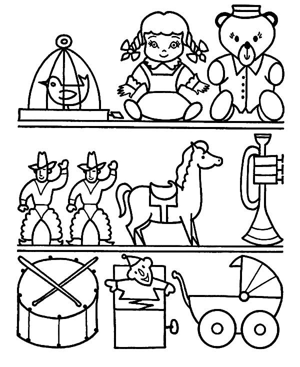 coloring book pages toys - photo#43