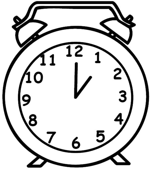 Раскраски часы для детей - 1