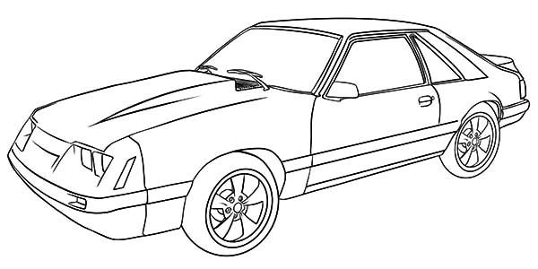 Similiar Ford Mustang Drawing Template Keywords