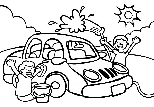 Car Wash Best Place To Color Washing For Coloring Pages